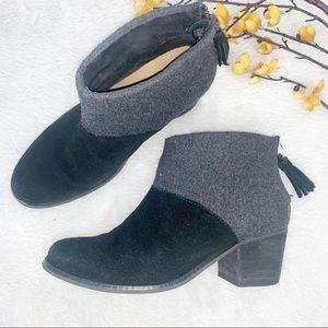 TOMS   6.5 Black Wool Felt Booties - Leila